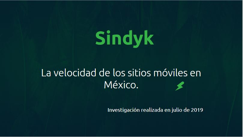 La velocidad de los sitios móviles en México
