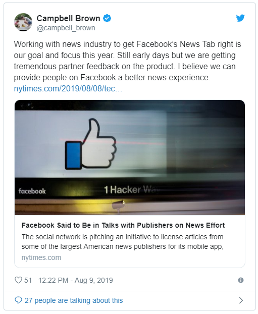 Facebook estaría interesado en crear una Publisher Tab